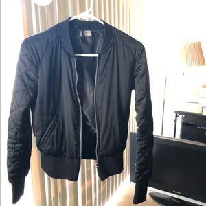 H&M Black Bomber Jacket Size 4